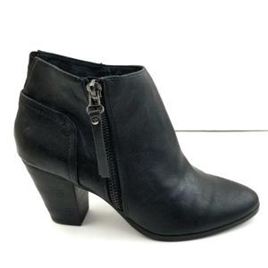 Chelsea Crew Babel Black Side Zip Western Booties